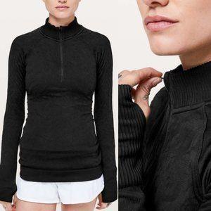 Lululemon Black Rest Less 1/2 Zip Pullover Size 12